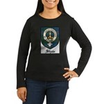 Shaw Clan Crest Tartan Women's Long Sleeve Dark T-