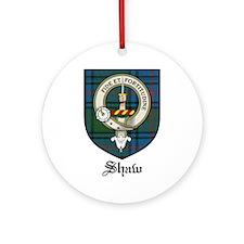 Shaw Clan Crest Tartan Ornament (Round)