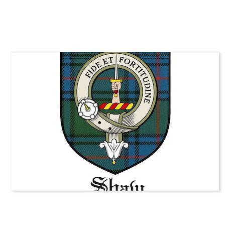 Shaw Clan Crest Tartan Postcards (Package of 8)