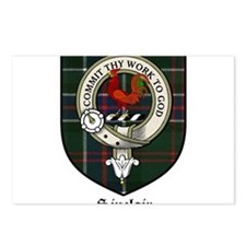 Sinclair Clan Crest Tartan Postcards (Package of 8