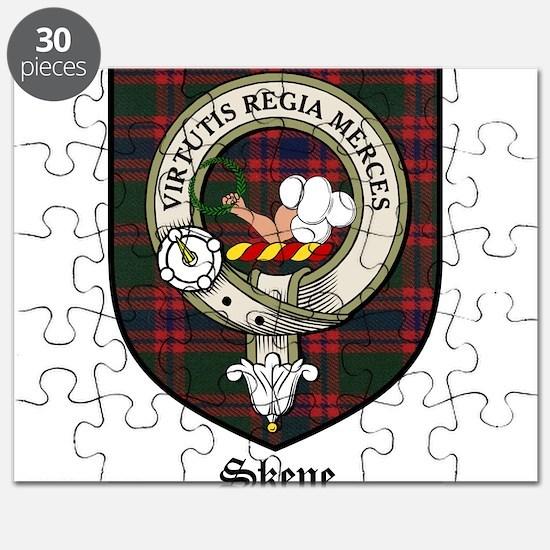 Skene Clan Crest Tartan Puzzle