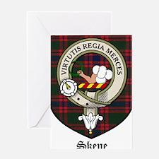 Skene Clan Crest Tartan Greeting Card