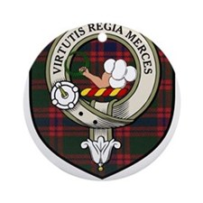 Skene Clan Crest Tartan Ornament (Round)