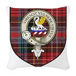 Stewart Clan Crest Tartan Woven Throw Pillow