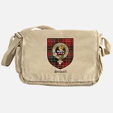 Stewart Clan Crest Tartan Messenger Bag