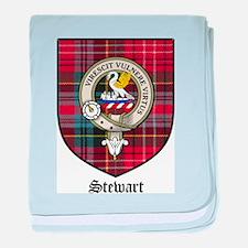 Stewart Clan Crest Tartan baby blanket