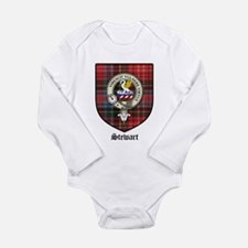 Stewart Clan Crest Tartan Long Sleeve Infant Bodys