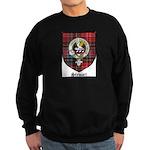 Stewart Clan Crest Tartan Sweatshirt (dark)