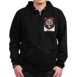 Stewart Clan Crest Tartan Zip Hoodie (dark)