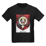 Stewart Clan Crest Tartan Kids Dark T-Shirt