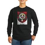 Stewart Clan Crest Tartan Long Sleeve Dark T-Shirt