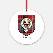 Stewart Clan Crest Tartan Ornament (Round)