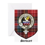 Stewart Clan Crest Tartan Greeting Cards (Pk of 10
