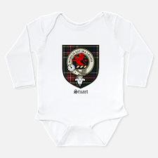 Stuart Clan Crest Tartan Long Sleeve Infant Bodysu