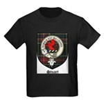 Stuart Clan Crest Tartan Kids Dark T-Shirt