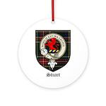 Stuart Clan Crest Tartan Ornament (Round)
