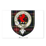 Stuart Clan Crest Tartan Postcards (Package of 8)