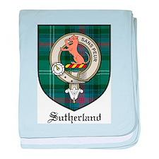 Sutherland Clan Crest Tartan baby blanket