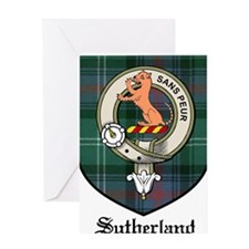 Sutherland Clan Crest Tartan Greeting Card