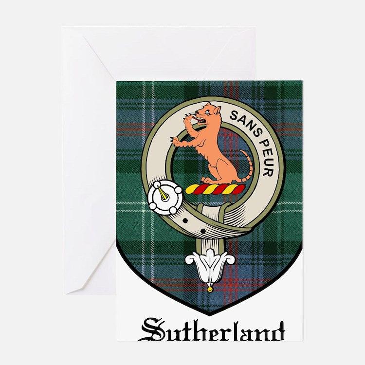 Sutherland Clan Crest Tartan Greeting Card