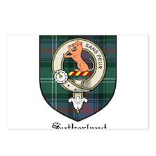 Sutherland Clan Crest Tartan Postcards (Package of