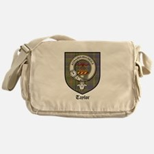Taylor Clan Crest Tartan Messenger Bag