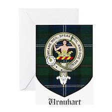 Urquhart Clan Crest Tartan Greeting Card