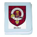Walker Clan Crest Tartan baby blanket