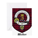 Walker Clan Crest Tartan Greeting Cards (Pk of 20)