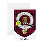 Walker Clan Crest Tartan Greeting Card