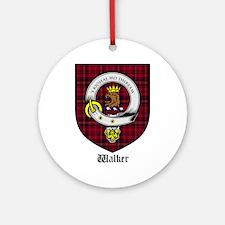 Walker Clan Crest Tartan Ornament (Round)