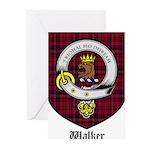 Walker Clan Crest Tartan Greeting Cards (Pk of 10)