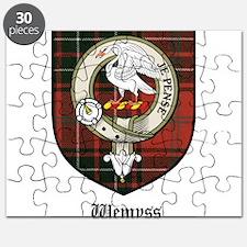 Wemyss Clan Crest Tartan Puzzle