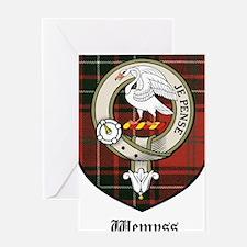 Wemyss Clan Crest Tartan Greeting Card