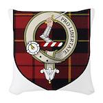Wallace Clan Crest Tartan Woven Throw Pillow