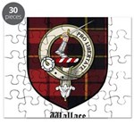 Wallace Clan Crest Tartan Puzzle