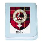 Wallace Clan Crest Tartan baby blanket