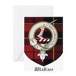 Wallace Clan Crest Tartan Greeting Card