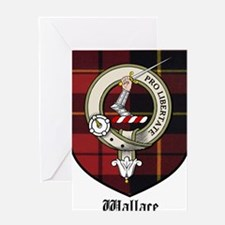 Wallace Clan Crest Tartan Greeting Card