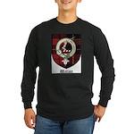 Wallace Clan Crest Tartan Long Sleeve Dark T-Shirt