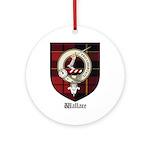 Wallace Clan Crest Tartan Ornament (Round)