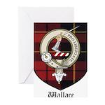 Wallace Clan Crest Tartan Greeting Cards (Pk of 10
