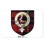 Wallace Clan Crest Tartan Postcards (Package of 8)