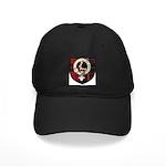 Wallace Clan Crest Tartan Black Cap