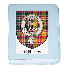 Williams Clan Crest Tartan baby blanket