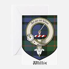 Willis Clan Crest Tartan Greeting Card
