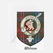 Wilson Clan Crest Tartan Greeting Card