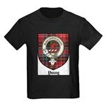 Young Clan Crest Tartan Kids Dark T-Shirt