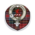 Young Clan Crest Tartan Ornament (Round)