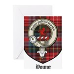 Young Clan Crest Tartan Greeting Cards (Pk of 10)
